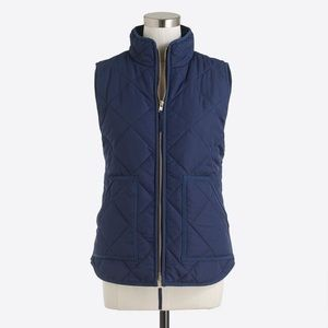 Brand New J Crew Navy Blue Quilted Puffer Vest S